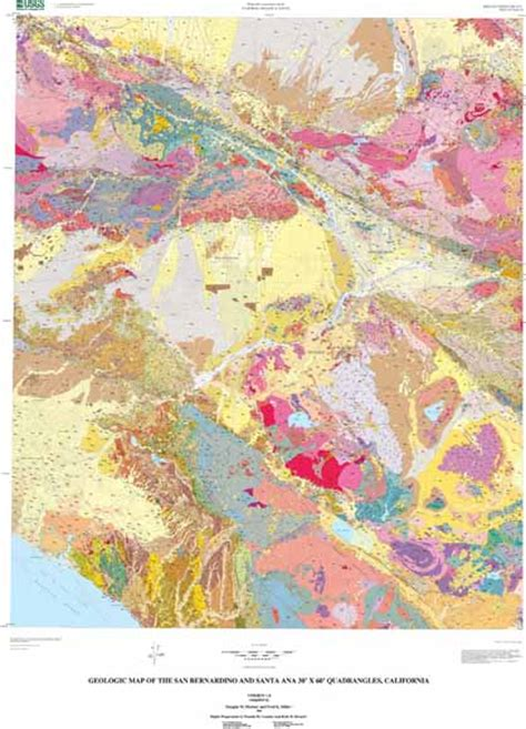 geologic map san jose quadrangle geologic map of the san bernardino and santa 30 x 60