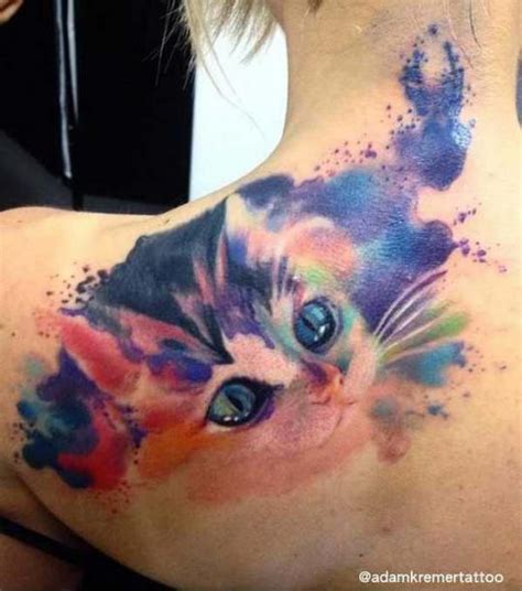 watercolor tattoos bad idea 45 and lovely cat tattoos ideas for cat