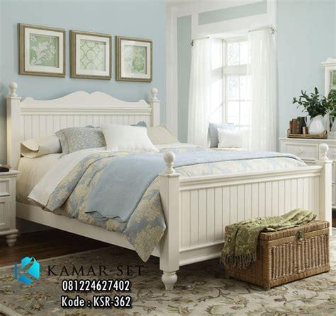 Tempat Tidur Elegan desain tempat tidur perempuan remaja putih duco harga