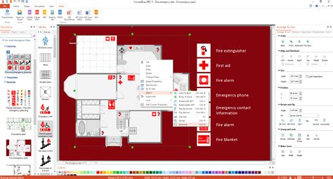 site plans solution conceptdraw com fire and emergency plans solution conceptdraw com