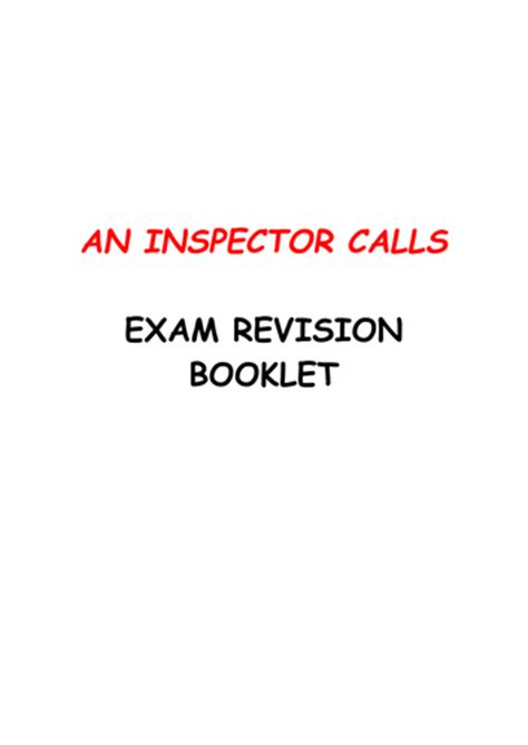 an inspector calls aqa gcse aqa modern texts of mice and men an inspector calls 10 week revision booklet by uk