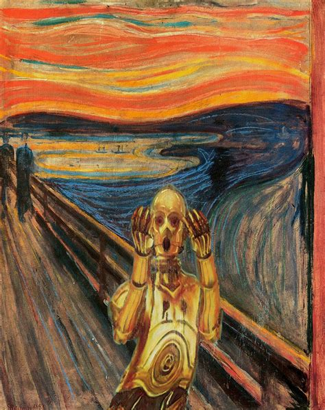 el grito de munch star wars characters invade classical paintings