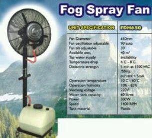 Kipas Blower Uap Air jual kipas angin kabut 30 quot 60liter cooling fan cke