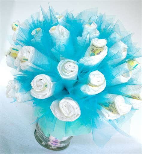 Baby Shower Centerpiece For Boy bouquet blue baby boy by domesticdivadesignz