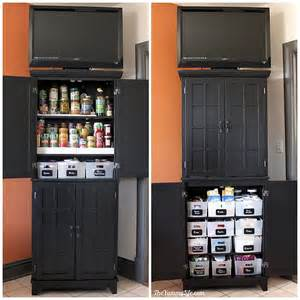 instant diy pantry cabinet get organized with this easy that s my letter diy freestanding kitchen pantry cabinet