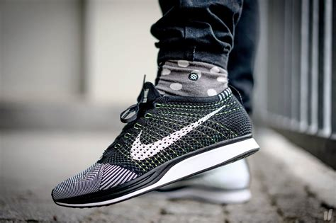black white nike flyknit racer unisex black white the sole supplier