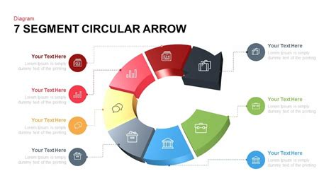 Powerpoint Circular Arrow Template 7 segment circular arrow powerpoint template slidebazaar