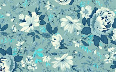 Wallpaper Blue Floral | vintage wallpaper floral blue hd desktop wallpapers 4k hd