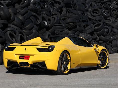 ferrari yellow 458 novitec rosso ferrari 458 spider 2012 exotic car pictures