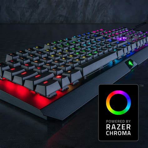 Razer Blackwidow X Chroma Rgb Gaming Keyboard razer blackwidow x chroma clicky rgb mechanical gaming keyboard grade