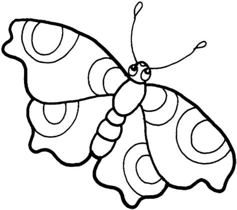 simple butterflies coloring pages