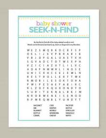 find baby shower blue baby shower word search by getpartychic on etsy