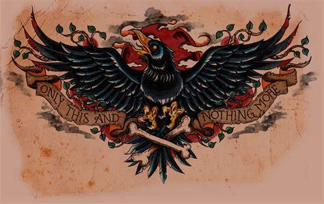 the raven tattoo edgar allan poe the my weblog