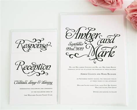 wedding invitations with individual names whimsical script wedding invitations wedding invitations