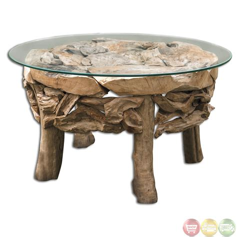 Teak Root Table by Teak Root Glass Top House Coffee Table 25619 Ebay