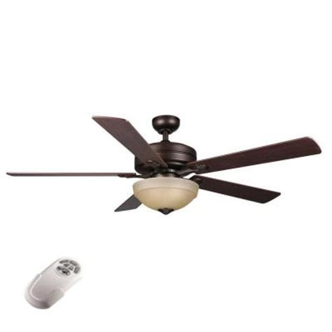 Home Depot Ceiling Fans With Remote by Hton Bay 56 In Rubbed Bronze Ceiling