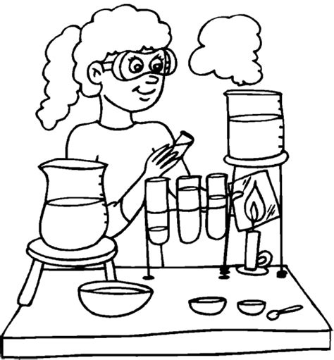 free coloring pages of school scientist