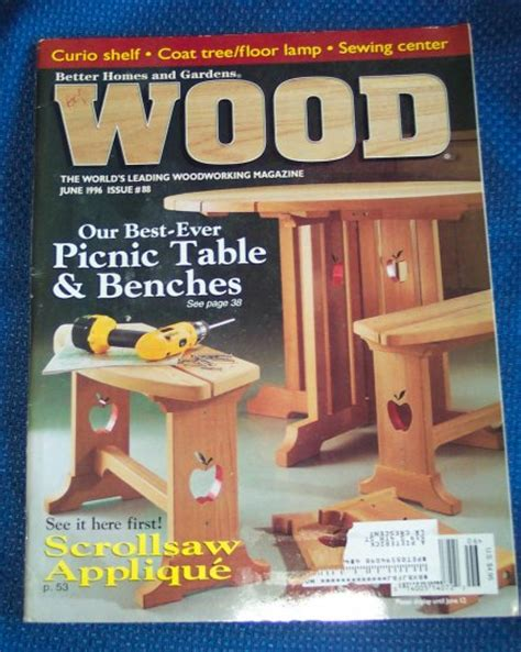 better woodworking better homes and gardens wood june 1996 issue 88 back