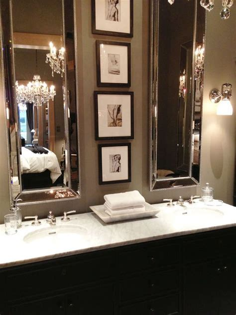 elegant bathroom mirrors glamorize rooms with tall mirrors