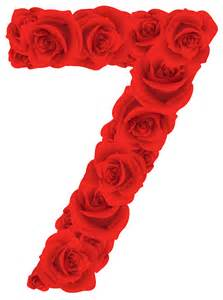 red roses number seven png clipart image gallery