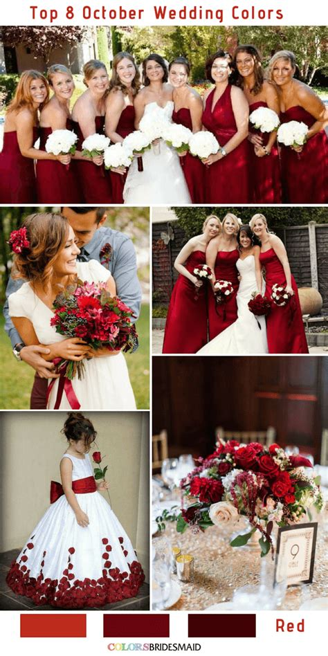 october wedding colors top 8 october wedding colors to 2 colorsbridesmaid
