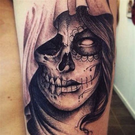 santa muerte by leguyt cool tattoos santa