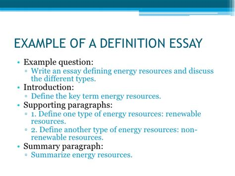 Definition Of Essay by Types Of Essays