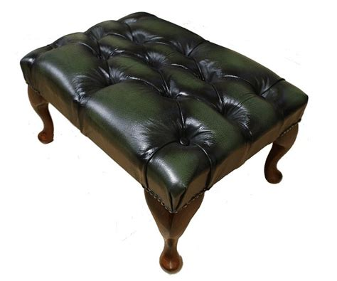 Traditional Leather Sofas Uk Chesterfield Footstool Uk Maufactured Antique Green Leather Sofas Traditional Sofas