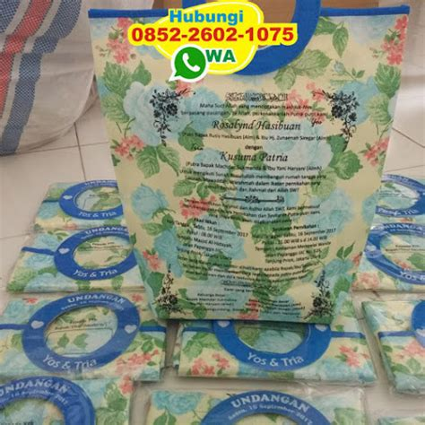 Tas Souvenir Undangan Pernikahan Motif Pipih 3 undangan tas motif pegangan bulat souvenir pernikahan