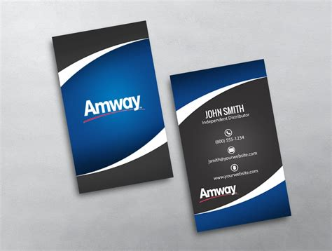 amway business card template amway template 16