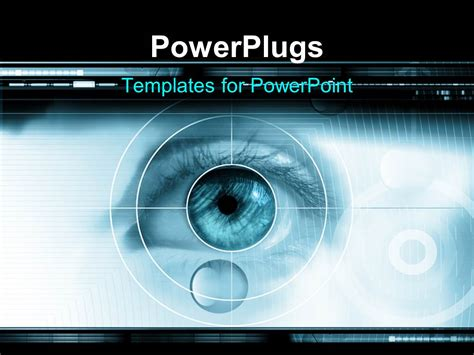 powerpoint template high tech technology background with