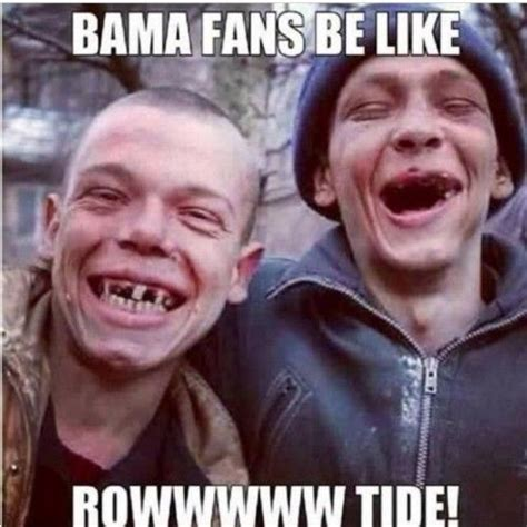 Roll Tide Meme - alabama fans be like florida state seminoles