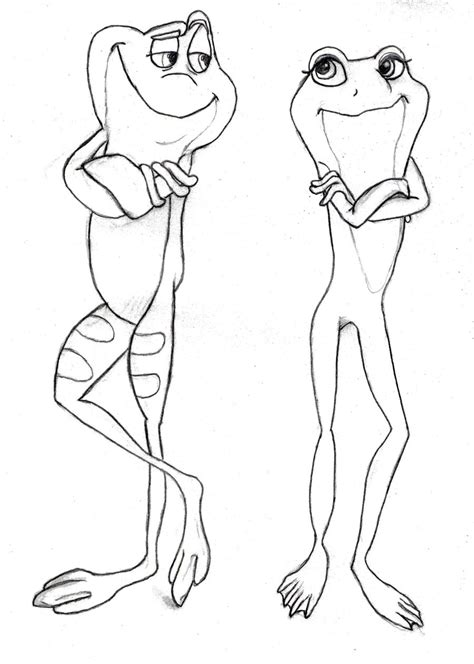 Tiana And Naveen As Frogs By Princess Amy Sparrow On Princess And The Frog Drawing