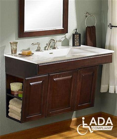 Ada Bathroom Cabinets Ada Cabinet With Specs T Ada Wall Mount Vanity Espresso Accessible Ideas Pinterest Wall