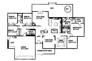 Four Bedroom Ranch House Plans 301 Moved Permanently