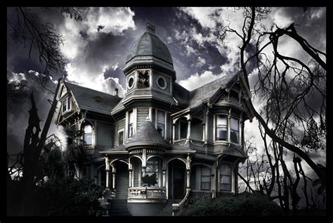 black white haunted house pictures photos and images