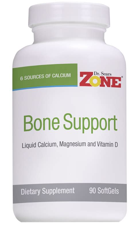 Suplemen Zone dr sears zone bone support calcium magnesium softgels