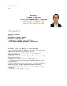 Cover Letter For Cv by Ahmad Hashem Cv Covering Letter 2012 12