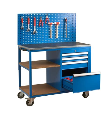 mobile work bench fr2350 mobile workbench with cnc tool storage hooper