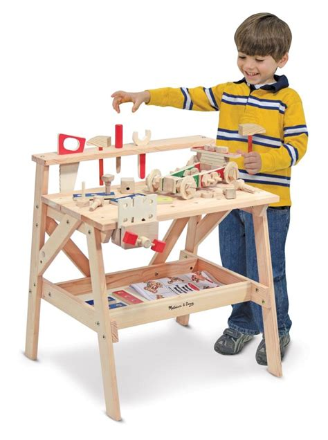 melissa doug tool bench melissa doug wooden tool work bench construction box set early learning building ebay