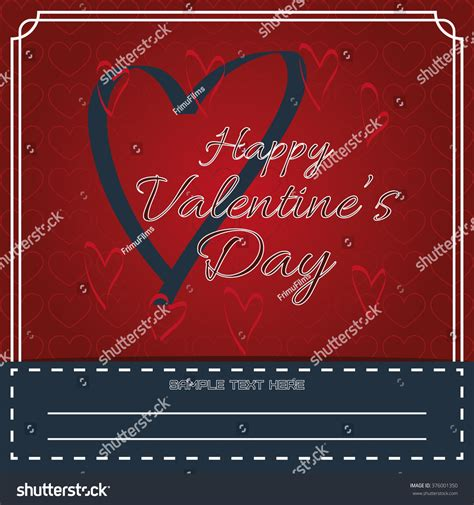 happy valentines day fancy writing happy valentines day greeting card fancy stock vector