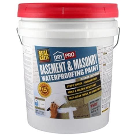 shop seal krete basement masonry waterprooing paint at