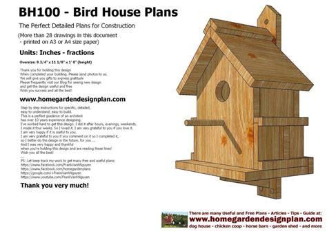 Wren Bird House Plans Plans For Bird Houses New Home Plans Design