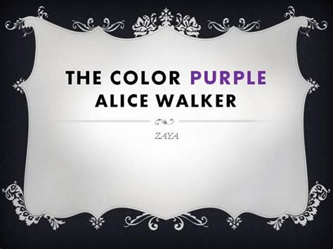 color purple summary ppt the color purple by walker authorstream