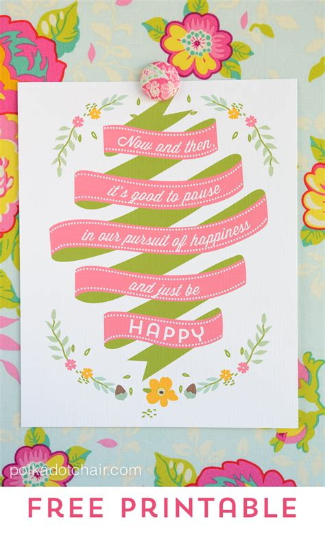free printable free printables pause and just be happy a giveaway