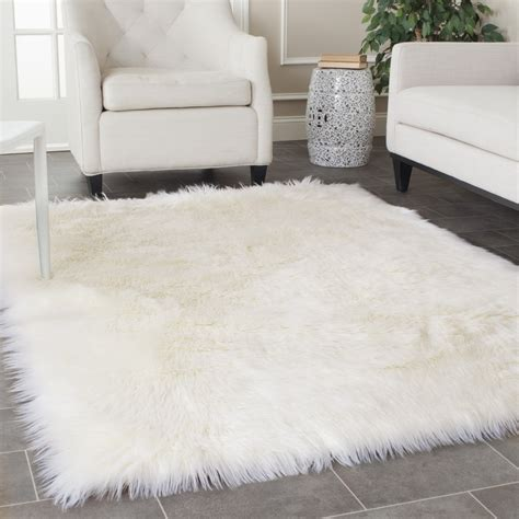 Fuzzy White Area Rug Classic Interior Design With Fluffy Faux White Fur Area Rug Square Shaped Rugs Square Shaped