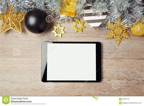 Digital Tablet Mock Up Template For Christmas App Presentation Or Website Promotion View From Digital Mock Up Templates