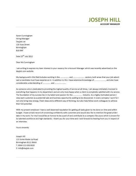cover letter for account executive role cover letter