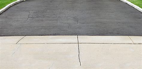 Driveway Garage Transition by Asphalt And Concrete Driveway Aprons Repair Or Replacement
