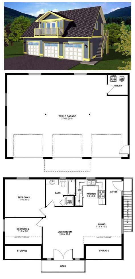 2 Car Garage Apartment Plans | 49 best images about garage apartment plans on pinterest